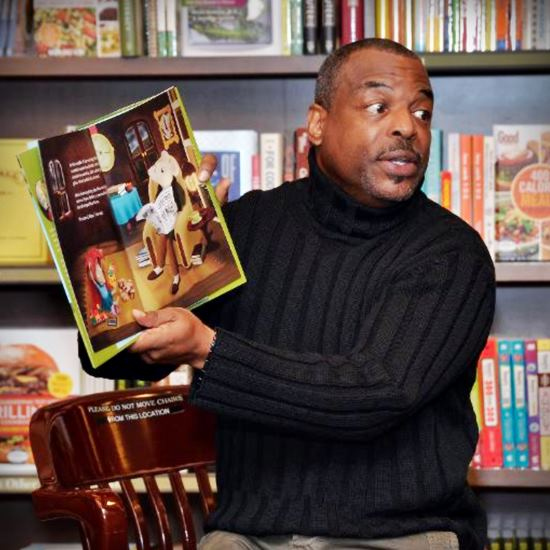 LeVar with a book