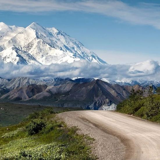 Beautiful Alaskan mountain and back roads