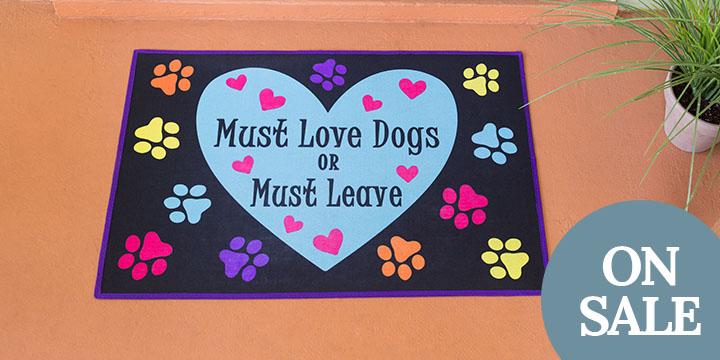 Must Love Dogs Door Mat