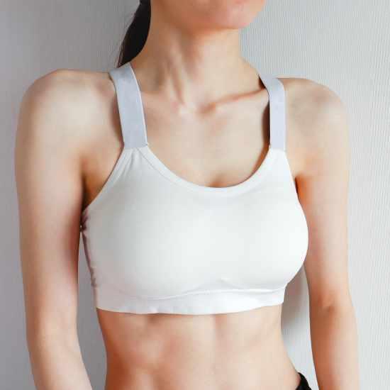 simple white sports bra