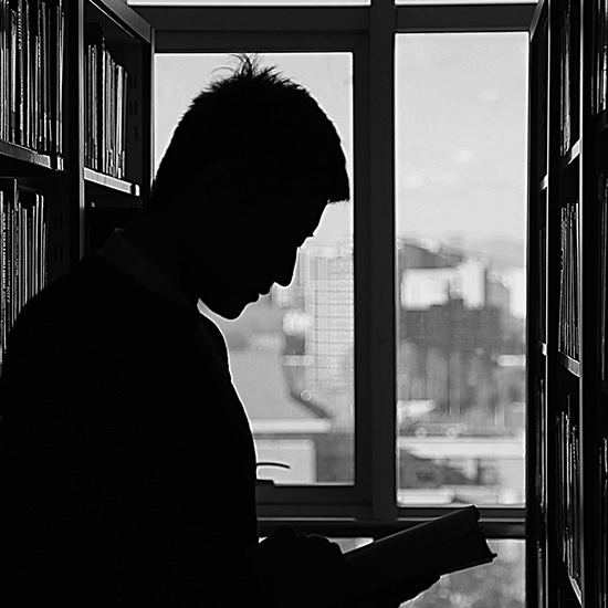 Student silhouette