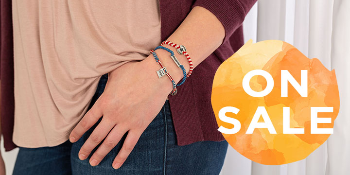 Courage, Hope, & Freedom Woven Bracelets