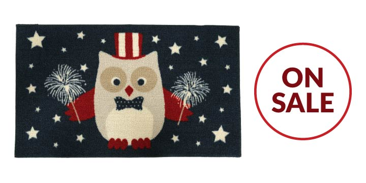 Independence Owl Door Mat