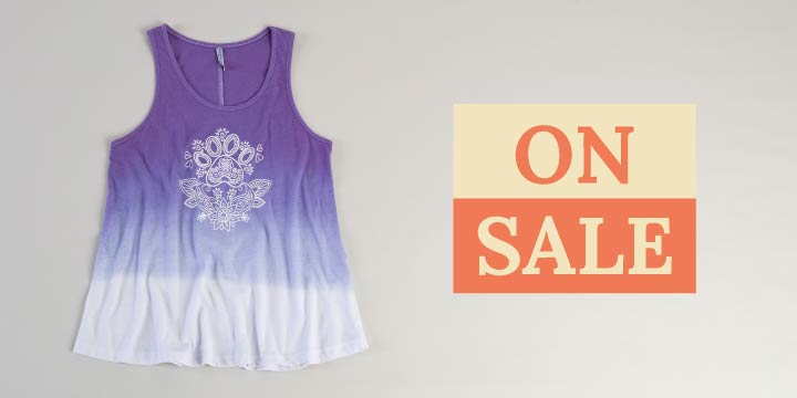 Paw Print Henna Ombre Tank Top