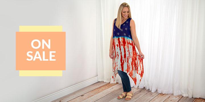 Stars & Stripes Sleeveless Tunic Dress
