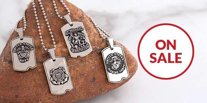 St. Michael Military Dog Tag Necklace