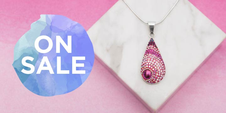 Mosaic Crystals Sterling Necklace