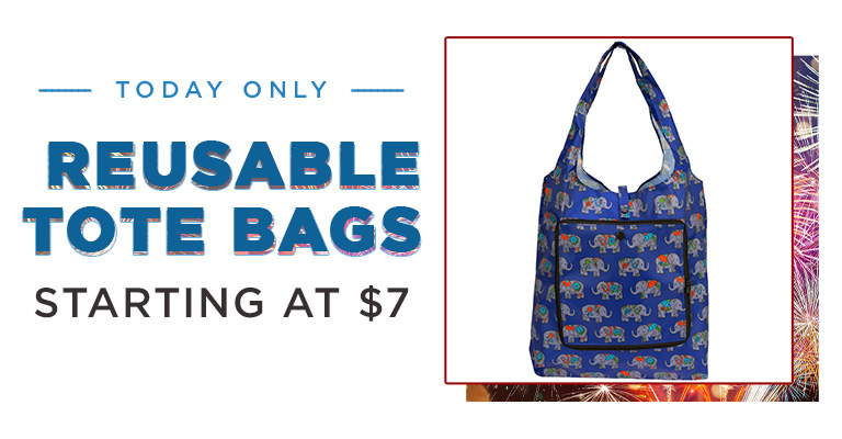 Today Only! $5 Shopping Totes