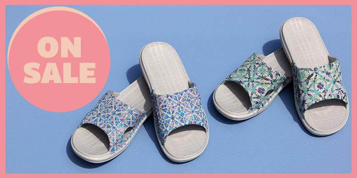 Summer Garden Open Toe Slide Sandals