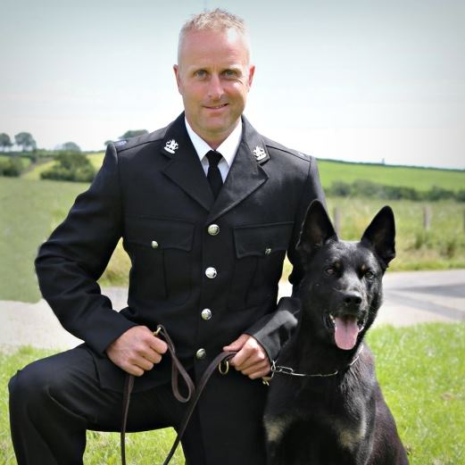 Officer with police dog
