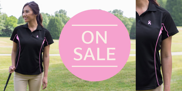 Pink Ribbon Quick-Dry Polo Shirt