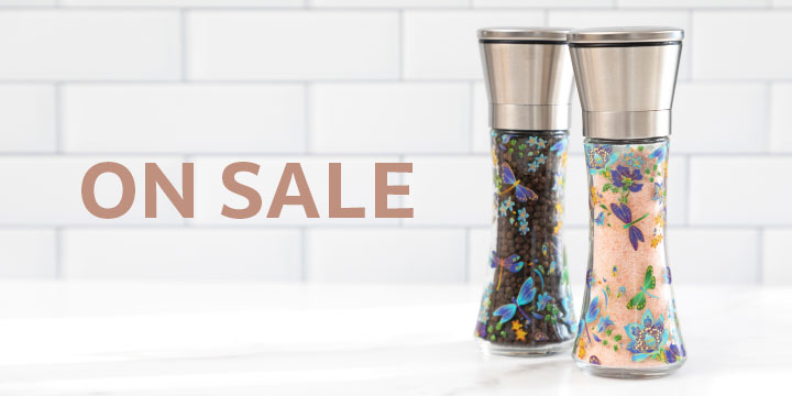 Fresh Floral Salt & Pepper Grinders