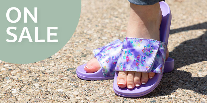 Delightful Paws Adjustable Slide Sandals