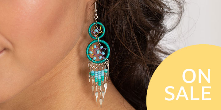 Double Dreamcatcher Dazzling Earrings