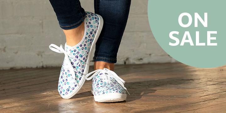 Paw Print Lace Up Canvas Shoes