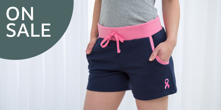 Pink Ribbon Two-Tone Shorts