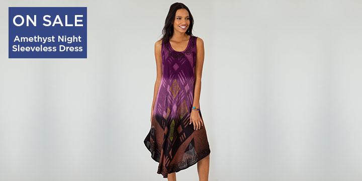 Amethyst Night Sleeveless Dress
