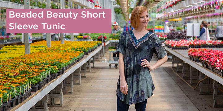 Beaded Beauty Short Sleeve Tunic