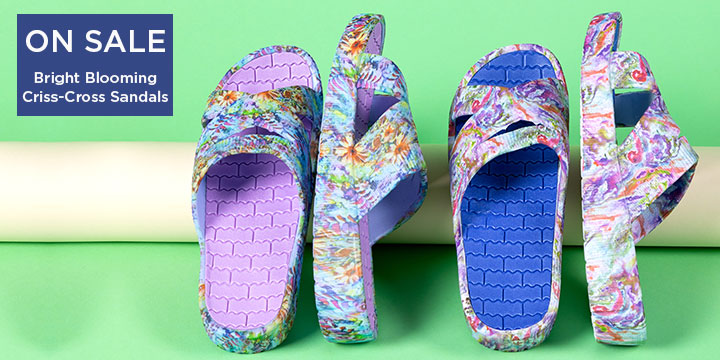 Bright Blooming Criss-Cross Sandals