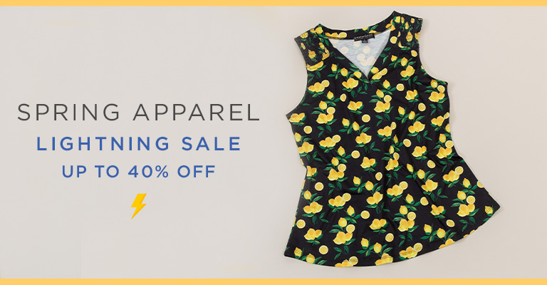 Spring Apparel Lightning Sale!