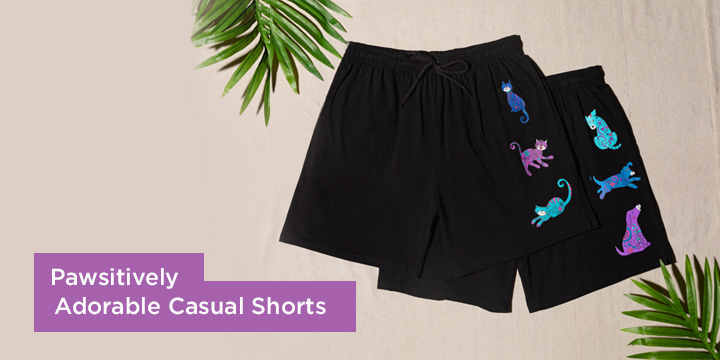 Pawsitively Adorable Casual Shorts