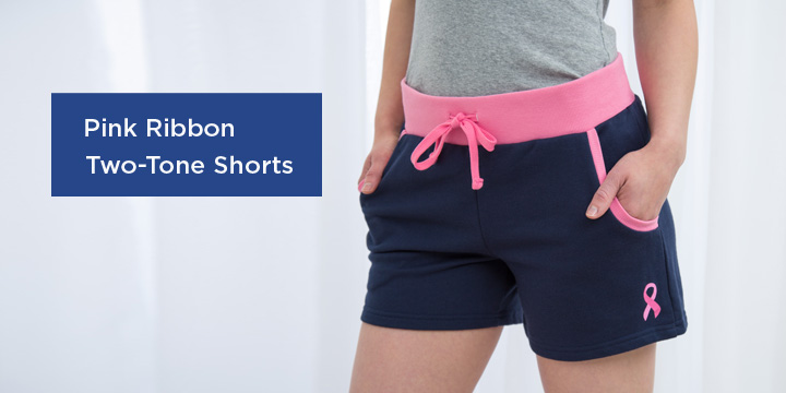Pink Ribbon Two-Tone Shorts
