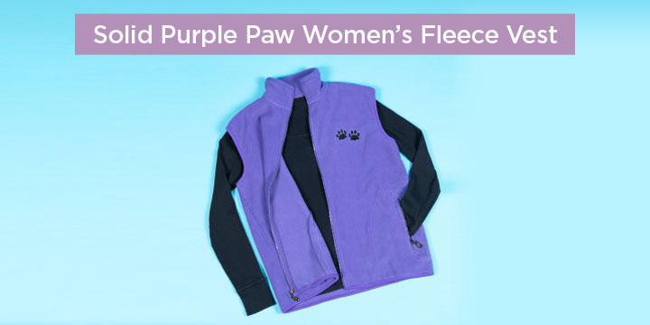 Solid Purple Paw Women's Fleece Vest