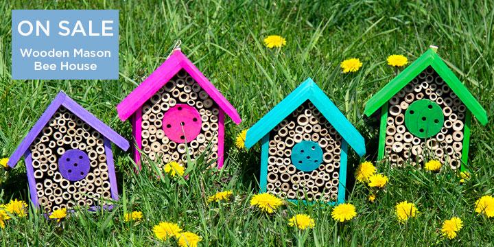 Wooden Mason Bee House