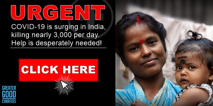 COVID-19 is surging in India, killing nearly 3,000 per day. Help is desperately needed!