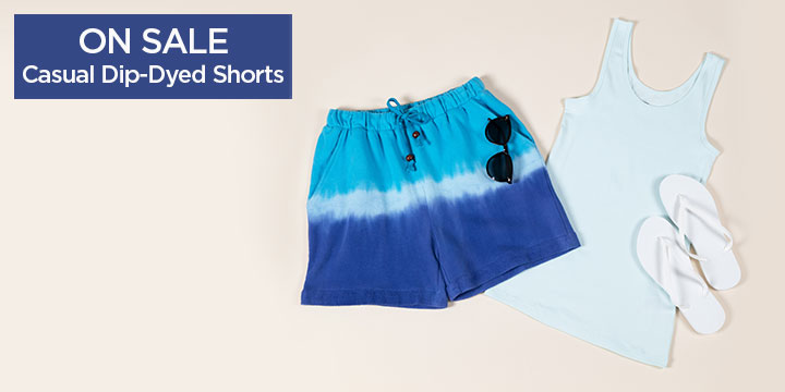 Casual Dip-Dyed Shorts