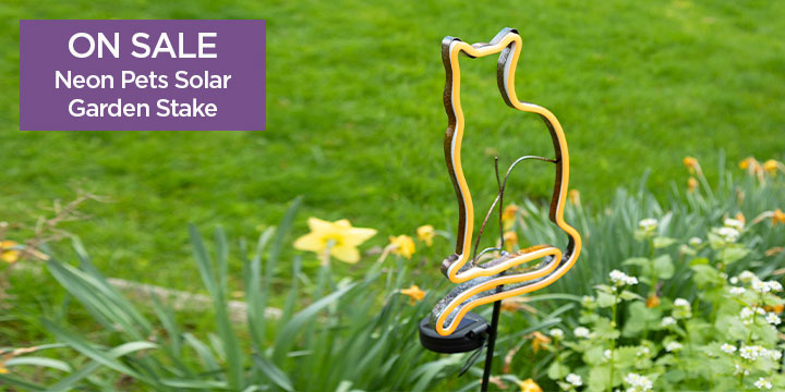 Neon Pets Solar Garden Stake