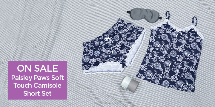 Paisley Paws Soft Touch Camisole Short Set