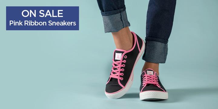 Pink Ribbon Sneakers