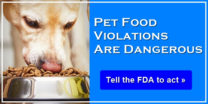 Pet food violations are dangerous - tell the FDA to act