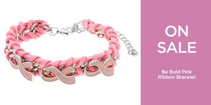Be Bold Pink Ribbon Bracelet