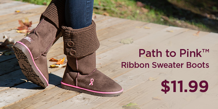 Path to Pink™ Ribbon Sweater Boots