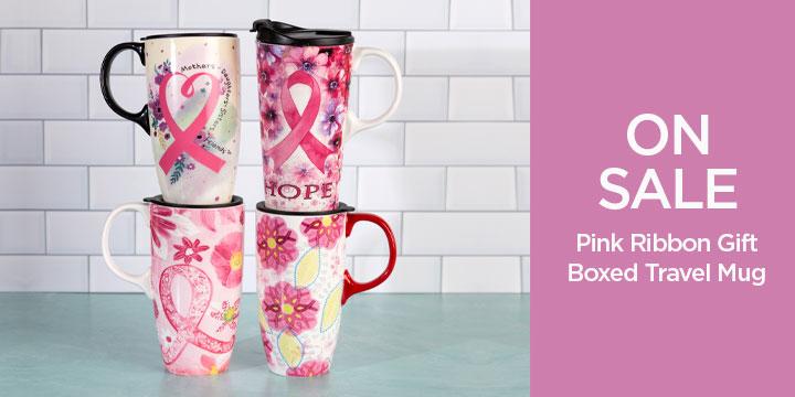 Pink Ribbon Gift Boxed Travel Mug