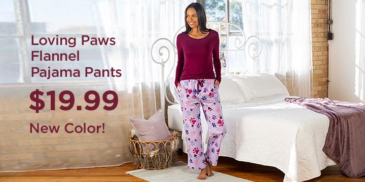 Loving Paws Flannel Pajama Pants