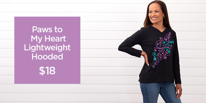 Paws to My Heart Lightweight Hooded Tunic