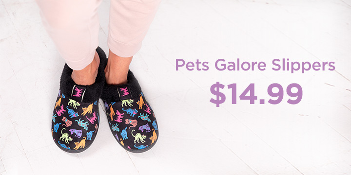 Pets Galore Slippers