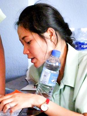K in a school helped by Mae Tao Clinic