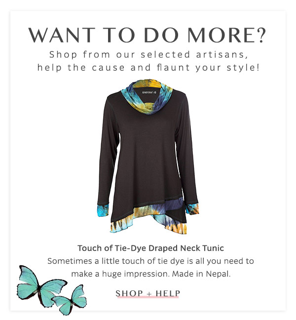 Touch of Tie-Dye Draped Neck Tunic