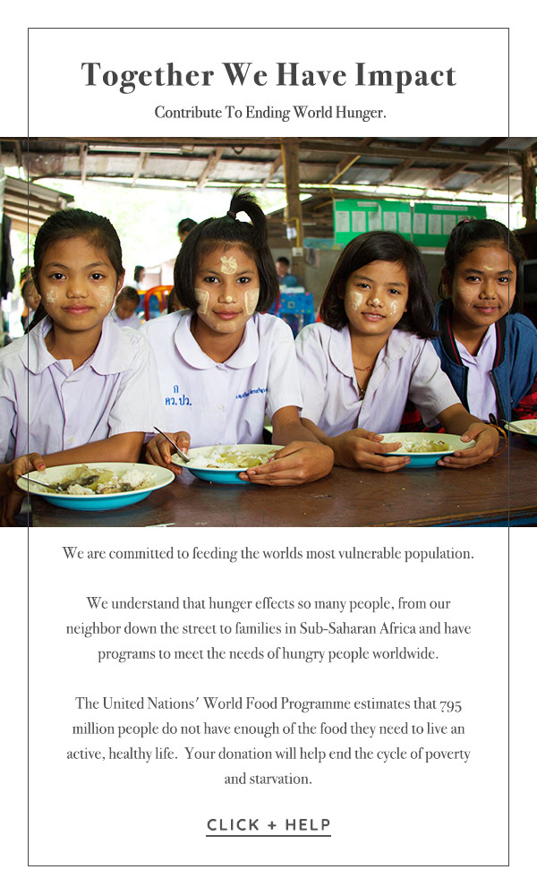 Contribute to ending world hunger