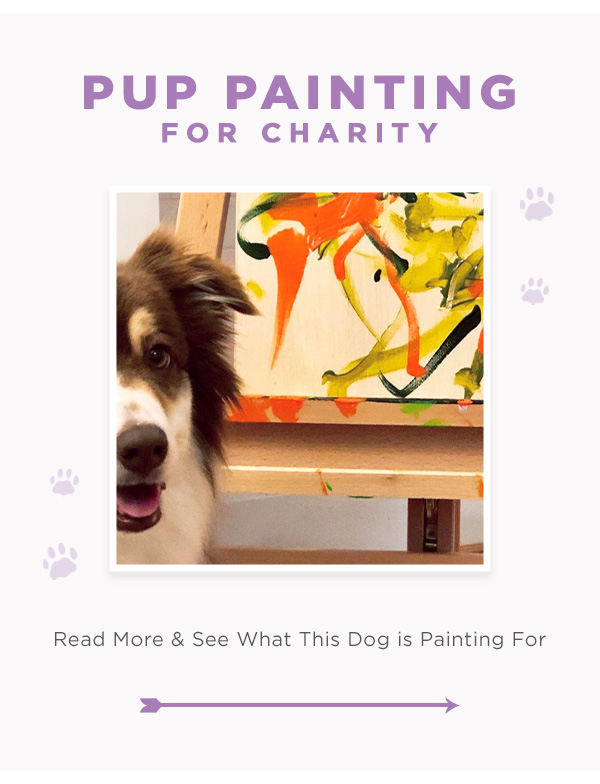 Pup Painting For Charity