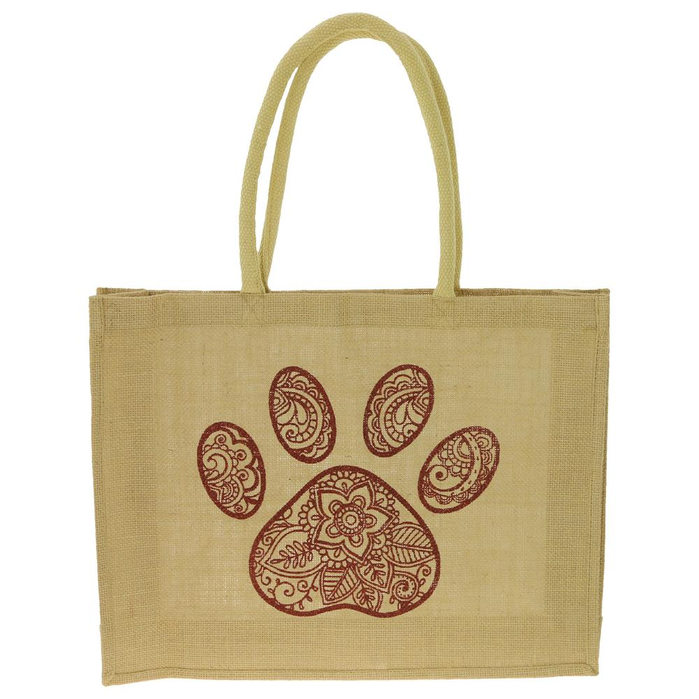 paisley paw jute bag the animal rescue site