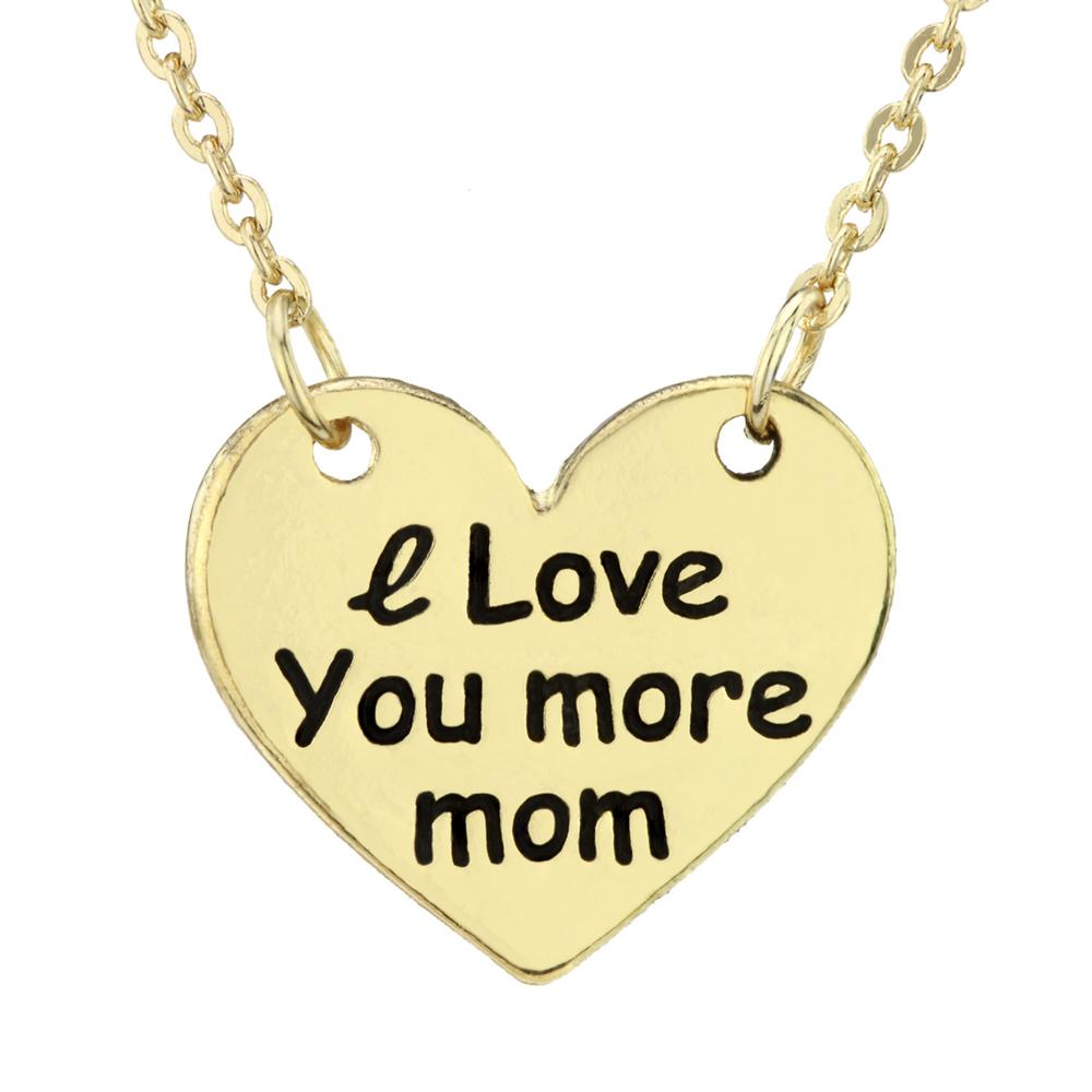 i love you more mom necklace the rainforest site
