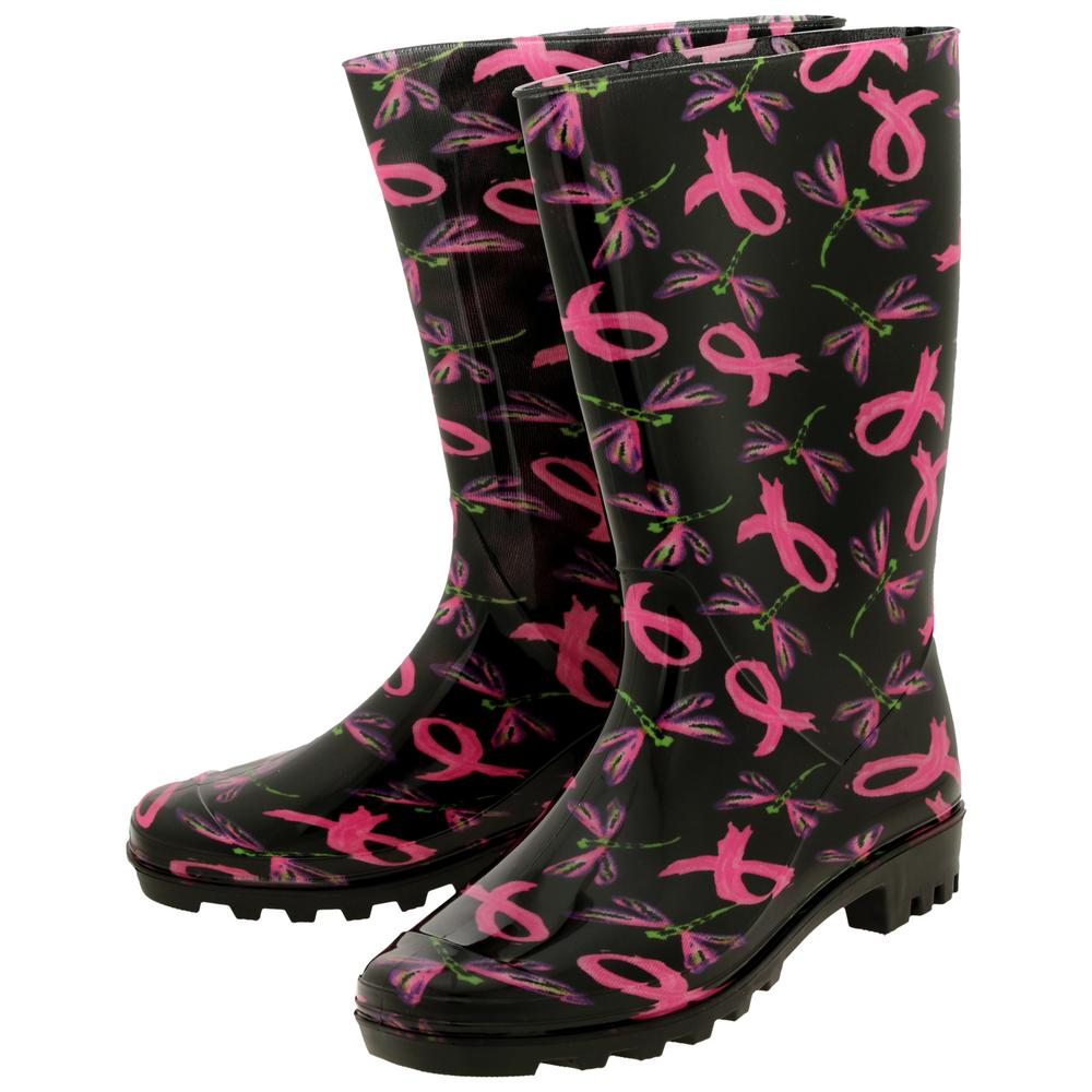 Take Flight Pink Ribbon Ultralite™ Rain Boots : The Breast Cancer Site