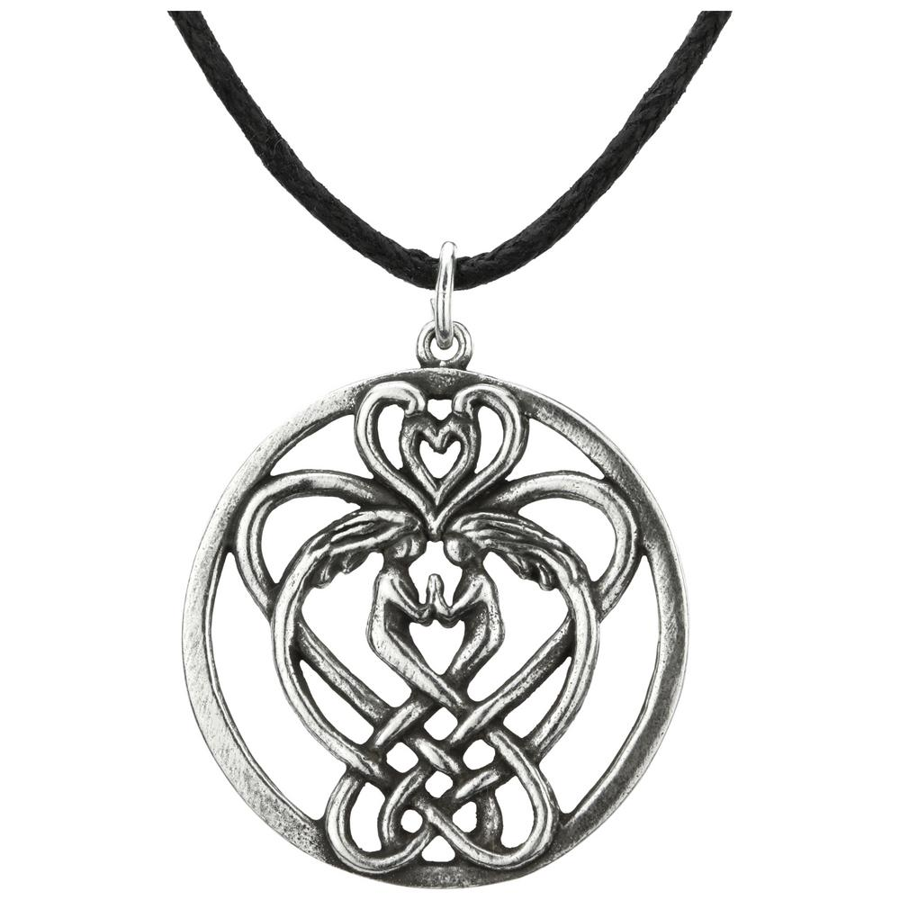 swarovski with knot pendant necklace triquetratrinity celtic triquetra embellished crystals jewelry trinity