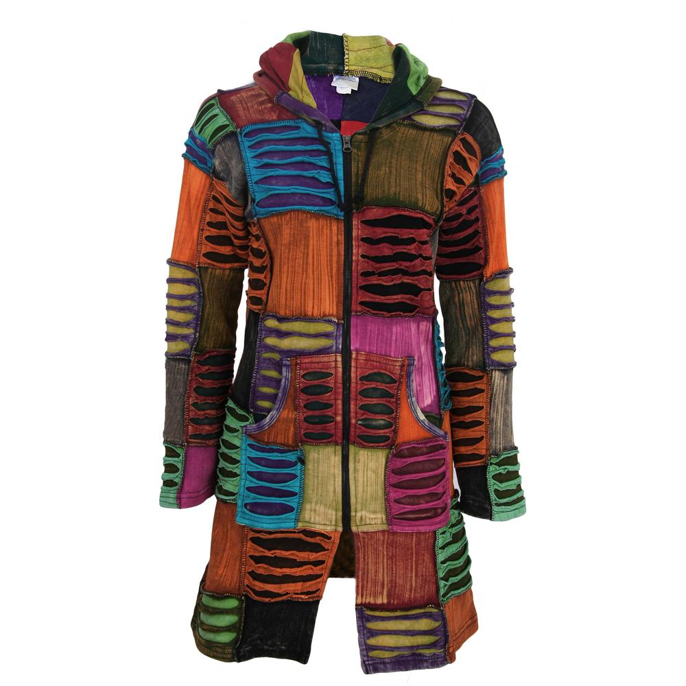 Coat of Many Colors Hooded Long Jacket : The Hunger Site