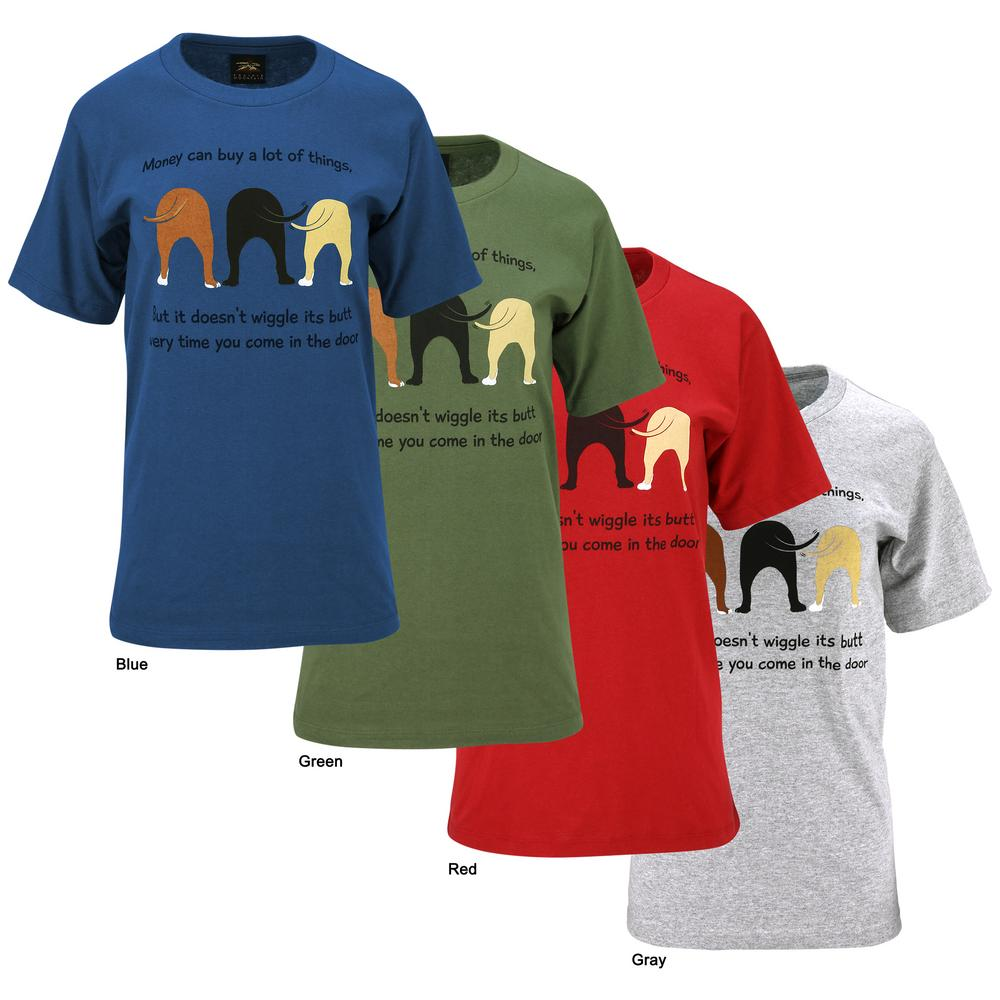 Dog wiggle t shirt the animal rescue site for On site t shirt printing